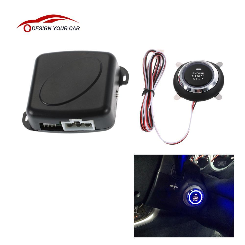 imágenes para Universal Auto Motor de Alarma de Coche Starline Push Start Button Sistema Antirrobo RFID de Entrada Sin Llave de Arranque del Interruptor de Encendido de Bloqueo de Seguridad