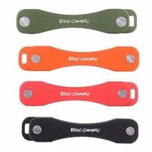 Portátil de aluminio de aleación de Llavero Key Holder Flexible Clip EDC Llavero Key Holder Organizador Carpeta Clip de Llaves de Óxido de Aluminio Duro