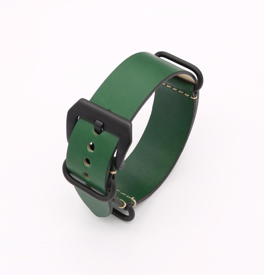 24mm Lumină maro închis Negru Verde Roșu VINTAGE Bandă ceas curea - Accesorii ceasuri - Fotografie 5