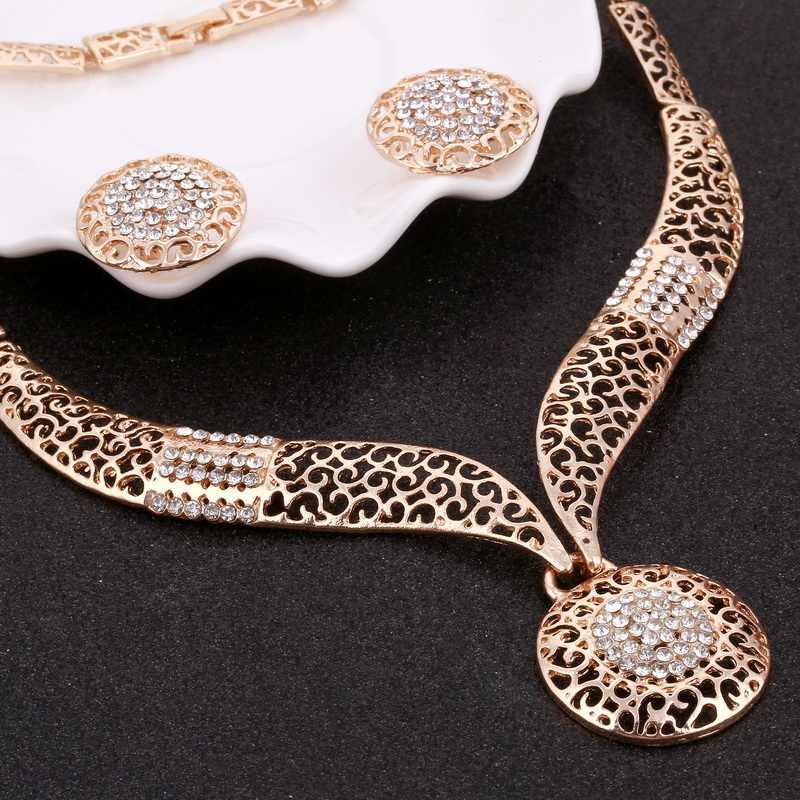ประณีตดูไบ Gold ชุดเครื่องประดับ Amazing ราคา Luxury ไนจีเรียผู้หญิงแต่งงานแฟชั่นแอฟริกันลูกปัดเครื่องประดับชุดออกแบบ