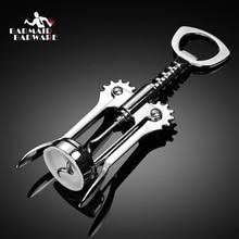 1pcs Stainless Steel Bottle Wine Vinho Opener Waiter Metal Corkscrew Handle Corkscrews