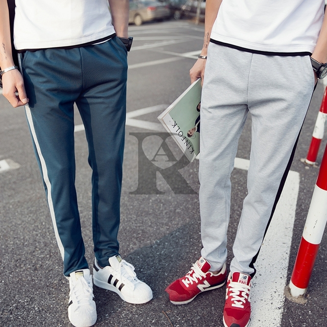 2017 AR new Men's Student trousers joggers hip fitness pantalon casual sweat pants Youth 6 color fashion M-4XL all sizes