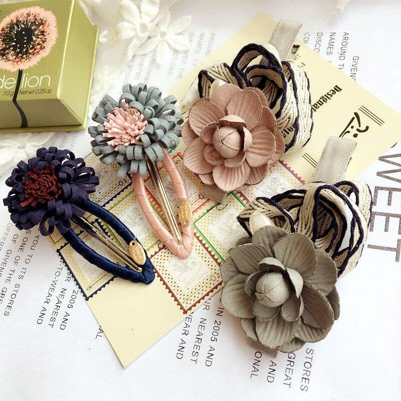 Korea Cloth Flower Crown Hair Accessories Weave Hair Bows Rim