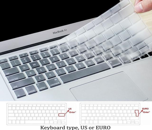 JUNWER CrystalMatte Transparent Case For Apple Macbook Air Pro Retina 11 12 13 15 For Macbook Air 13 Laptop Case Cover
