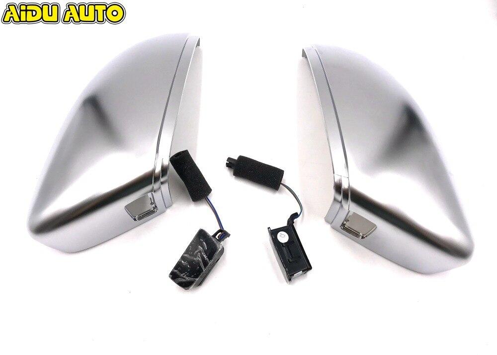купить Matt Chrome Silver Mirror Case Covers & Side Assist Light FOR VW PASSAT B7 CC 35D 949 145 / 6 35D949145 / 6