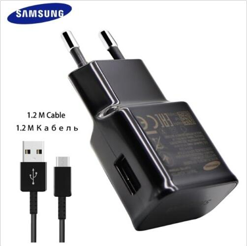 100% Original Samsung Galaxy S8 S8 +S8 PLUS S10 S10 Plus NOTE 8  Note 9 Adaptive Fast Charger Type C Cable EU PLUG  black white samsung