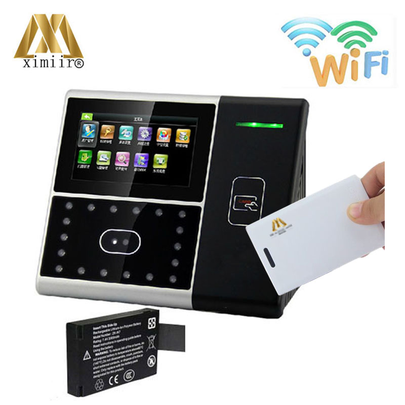 Backup battery wifi IC card face attendance and access control Iface301 linux system face time recording time attendance machine
