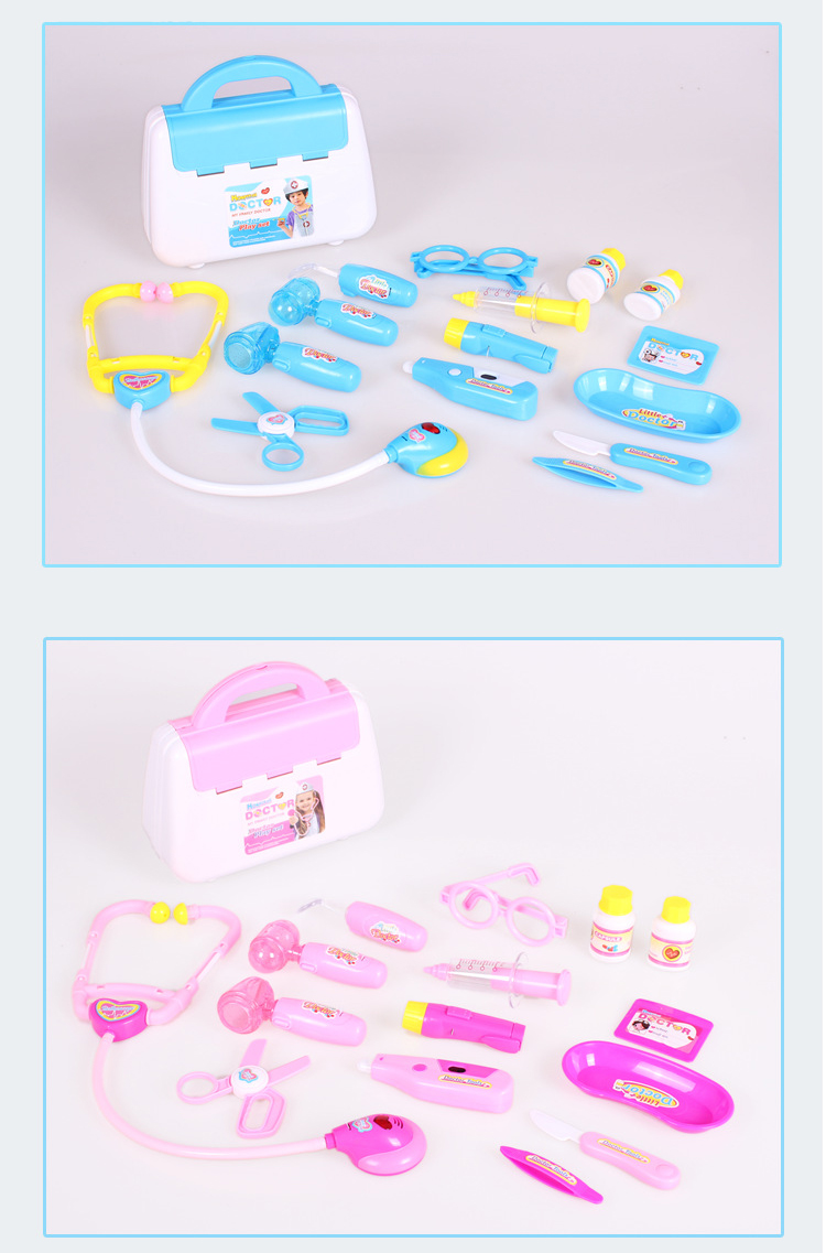 CTWJ0540 15 sets of doctors play house toys childrens toys set Drop shipping