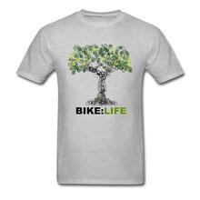 BIKE LIFE Tree Design Classic Tshirt OM Green Environment Cretive T Shirt 100 Cotton Fabric Comfortable T Shirt Men's T Shirt