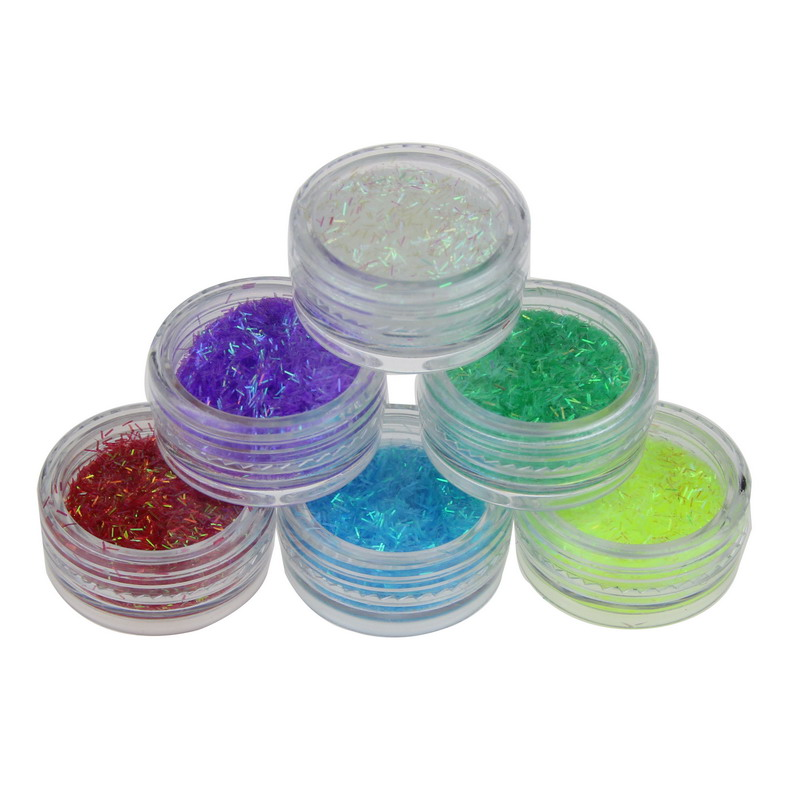 6 Colors UV Gel Acrylic Nail Glitter Powder Dust Gem
