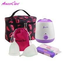 Aneercare stérilisateur menstruel copa en silicone médical, tasse menstruelle, collecteur menstruel, pour femmes, coppetta