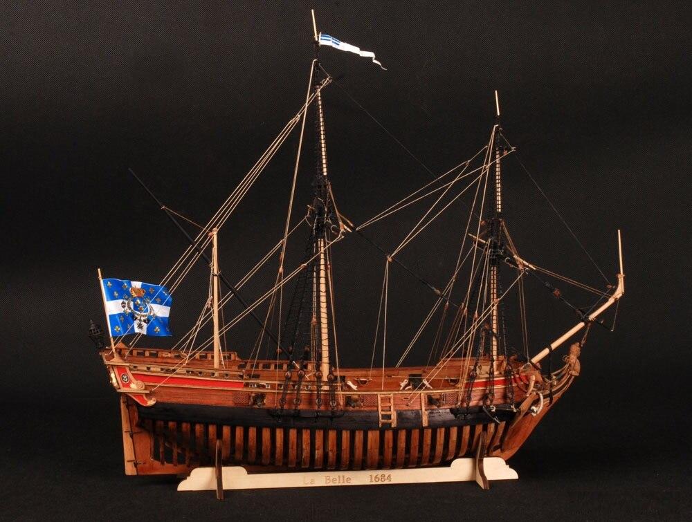 NEW 2 0 Versions Wooden Ship Models Kits Scale 1 48 La Belle 1682 Full Ribs
