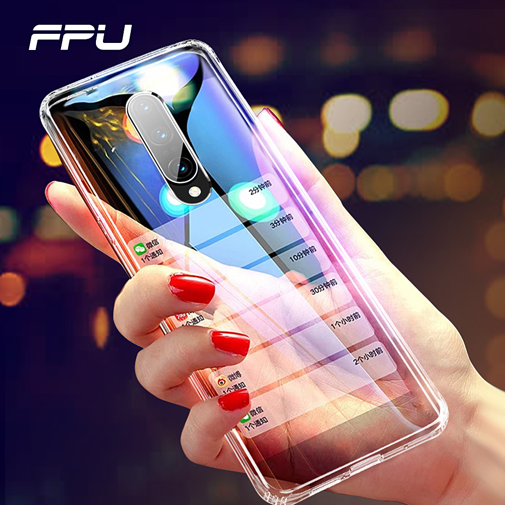 FPU Cases For font b Oneplus b font 6T 6 Transparent Ultra Thin Soft TPU Silicone