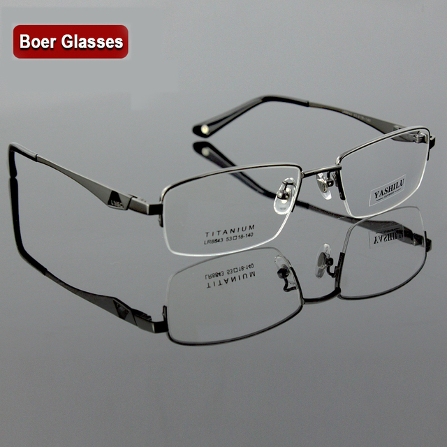 83d2ae0d42 Pure Titanium Men S Eyeglasses Myopia Eyewear Prescription Glasses YASHILU  8843 (53-18-140