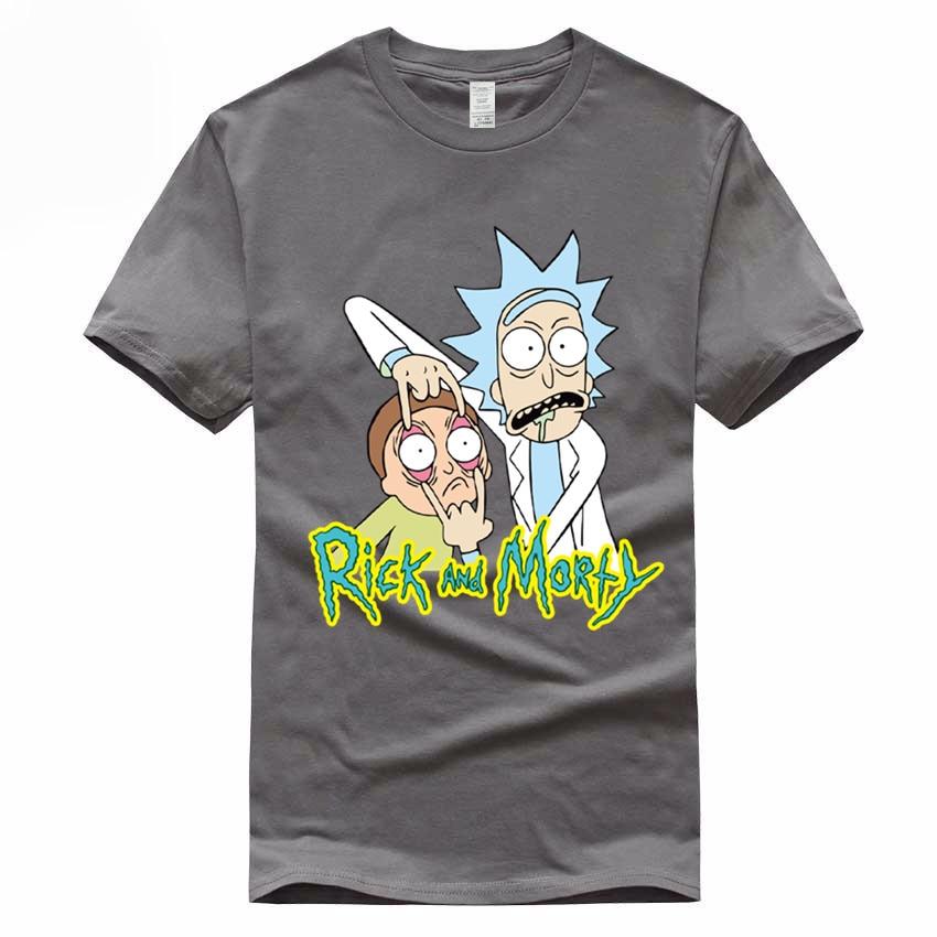 Ukuran Euro, 100% Katun, pria Anime Rick dan Morty Pencetakan T-shirt - Pakaian Pria - Foto 3
