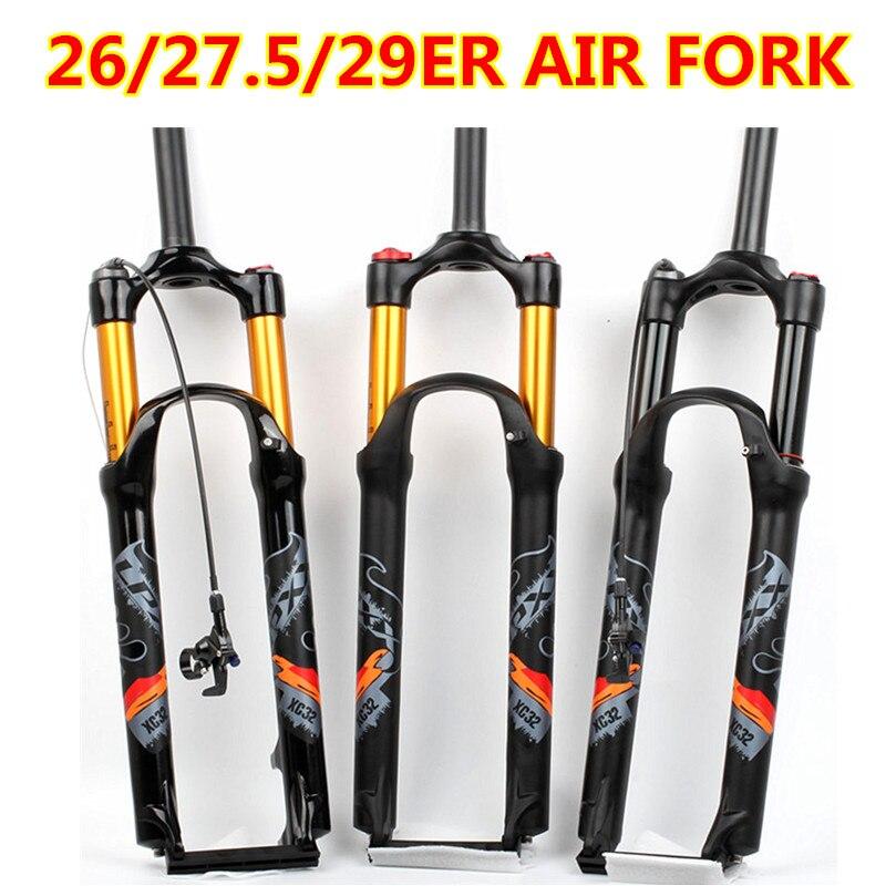 Велосипедный спорт воздушная вилка 26 27,5 29 ER MTB Горный подвеска ВИЛЫ air resistance масла демпфирования линии замок для более SR SUNTOUR EPIXON