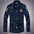 Fashion brand men aeronautica militare casual clothing 2016 High quality Embroidery camisa masculina long sleeve mens shirts