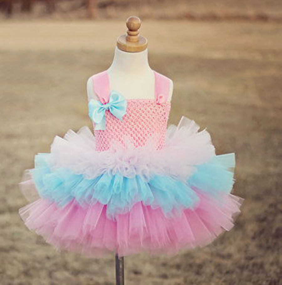 aa36858f92 Fancy Pink Flower Girl Tutus Special occassion christening Birthday Dress 1  Year to 10 years old infant glitz pageant dresses-in Dresses from Mother    Kids ...