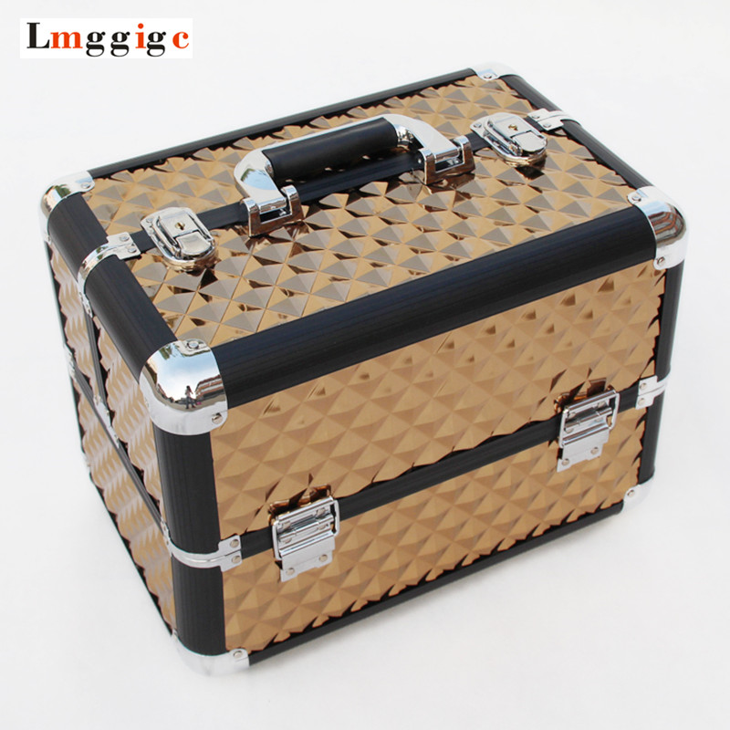 Cosmetic Bag,Makeup Toolbox Case,Make-up Nails Tools box,Beauty Handbag Suitcase bag ,35*27.5*23 cm Multilayer package