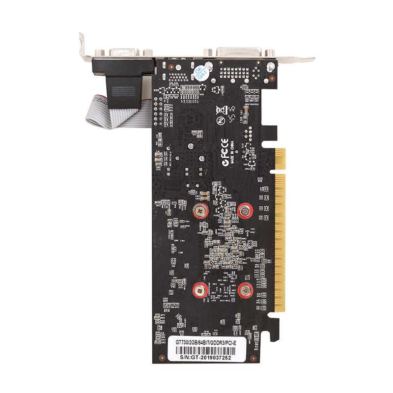 GT730 2GB بطاقة جرافيكس 64Bit GDDR3 GT 730 2G D3 لعبة بطاقات الفيديو ل NVIDIA GeforceHDMI Dvi VGA بطاقة الفيديو