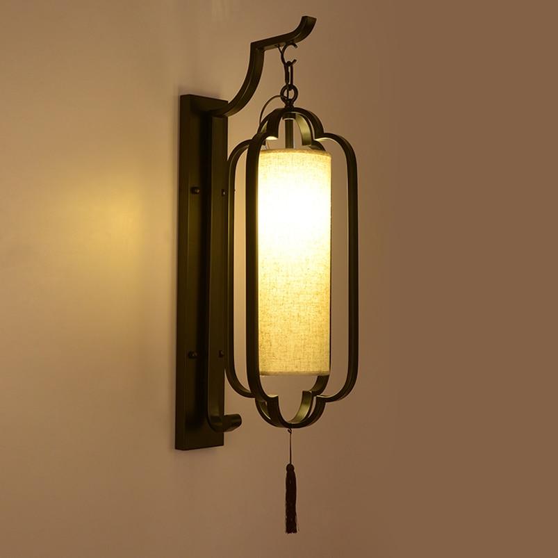 Couloir d'hôtel Chinois mur lampe salle de banquet thé maison mur lampe de chevet hall chambre salon mur applique soutien-gorge applique murale