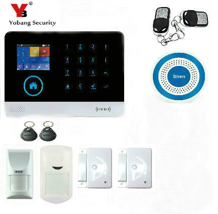 YobangSecurity WiFi GSM GPRS RFID Burglar Alarm Home Surveillance Security System Wireless Siren Pet Immune Friendly Detector yobangsecurity wireless wifi gsm gprs rfid home security alarm system smart home automation system pet friendly immune detector