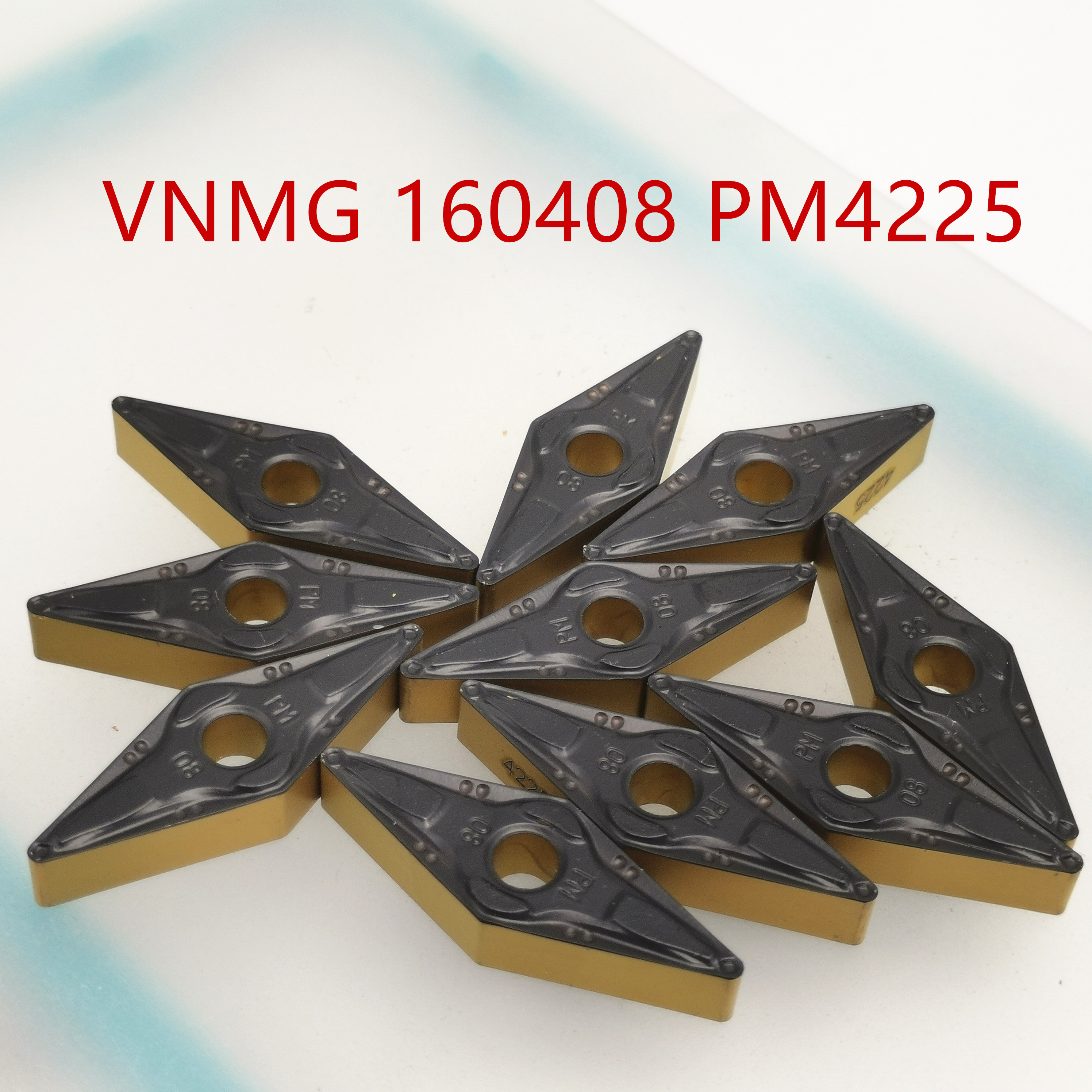 Tungsten Carbide VNMG160408 PM4225/ VNMG160404 PM 4225 External Turning Tool Carbide Insert High Quality VNMG Lathe Cutter Tool