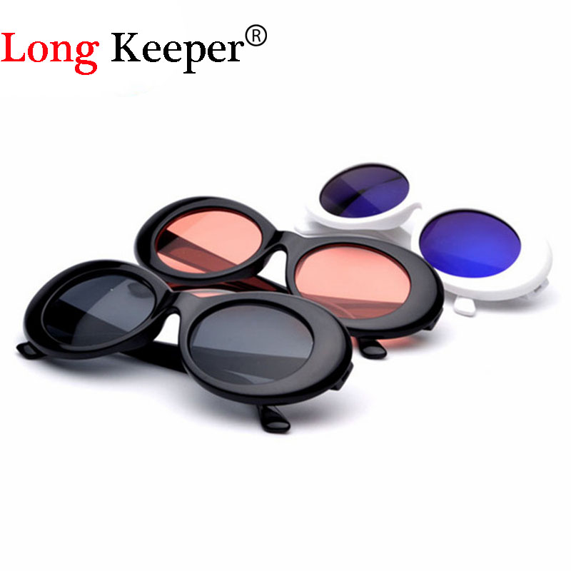 Long Keeper 2017 Oval Sunglasses NIRVANA Kurt Cobain Star Style Sunglasses Men Women Retro Sun Glasses 16 Colors Wholesale Price