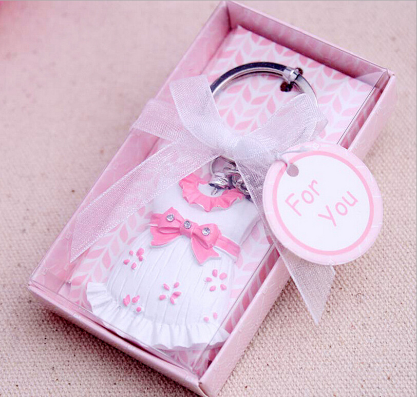 100pcslot Baby Shower Favors And Gift Cute Baby Clothes Key Chain