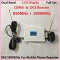 Lo nuevo Display LCD! 2G CDMA 850 MHz + 4G DCS 1800 Mhz Teléfono Móvil Amplificador de Señal de Doble Banda, Teléfono celular amplificador de Señal del Repetidor