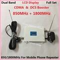 Mais novo Display LCD! 2G CDMA 850 MHz + 4G DCS 1800 Mhz Dual Band Mobile Phone Signal Booster, Cell Phone Signal Repetidor amplificador