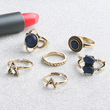 2017 NEW Kinel Brand Bohemia Knuckle Rings For Women 6pcs/set  Vintage Look Fashion Jewelry Tribal Ethnic Beach Ring Sets