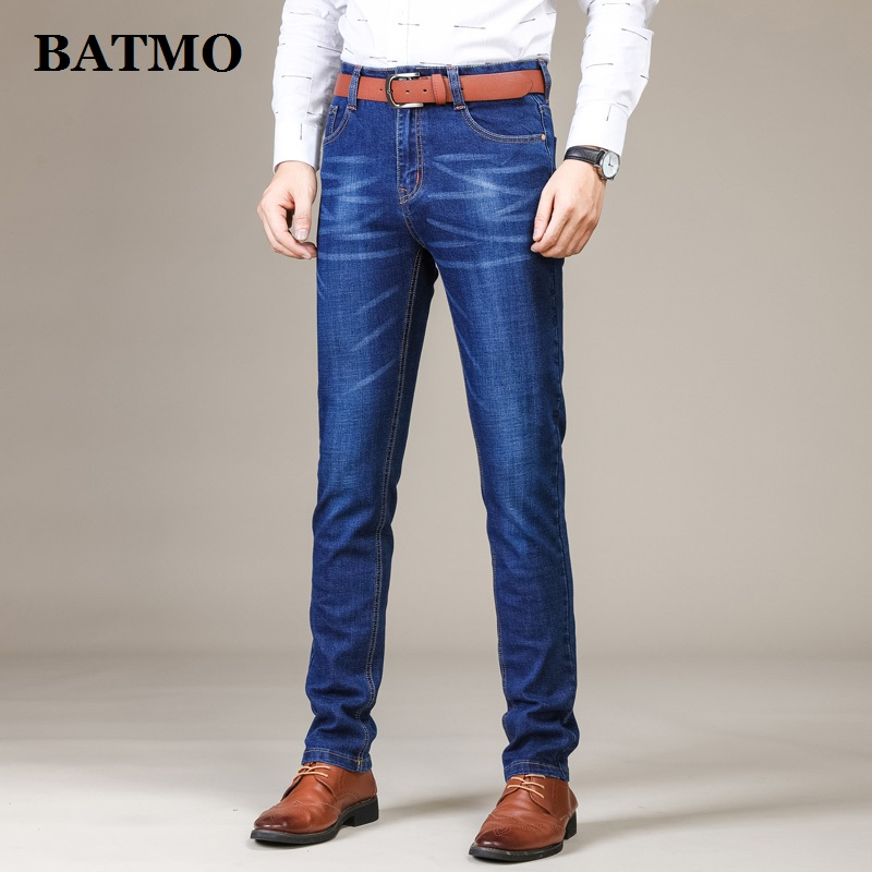 Batmo 2019 new arrival high quality casual Straight elastic   jeans   men,men's slim pants ,skinny   jeans   men plus-size 28-40 1101