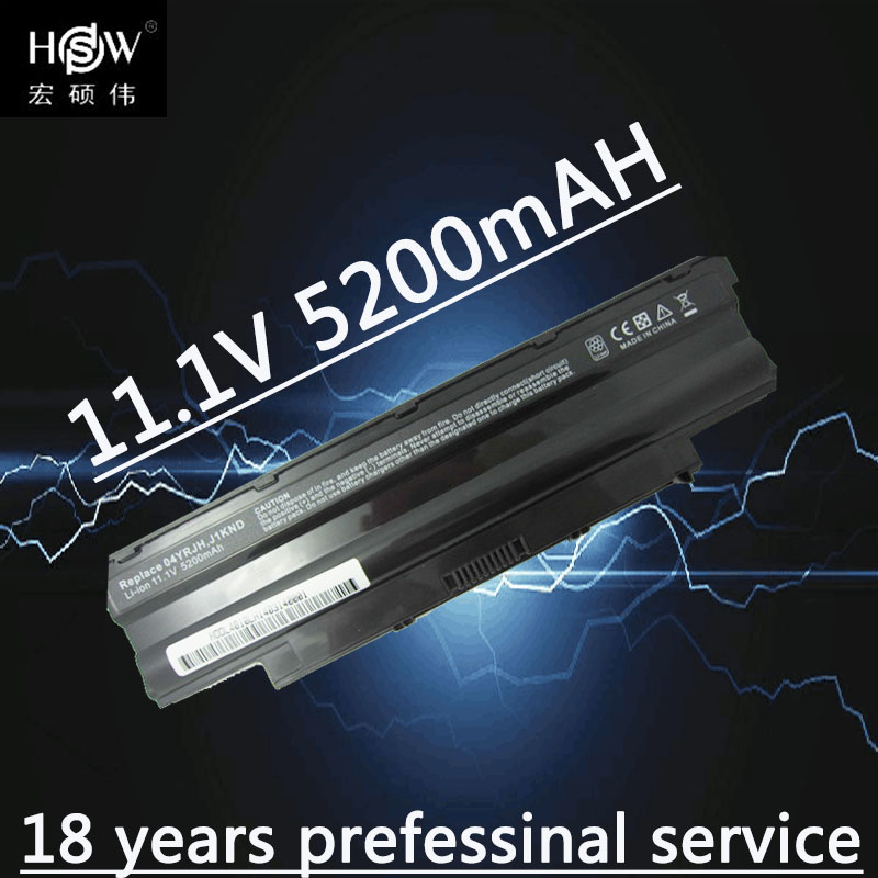 HSW 5200mAh laptop Battery j1knd for Dell Inspiron M501 M501R M511R N3010 N3110 N4010 N4050 N4110 N5010 N5010D N5110 N7010 N7110 5200mah battery for dell inspiron n4010 n4050 n5010 n7010d vostro 3550