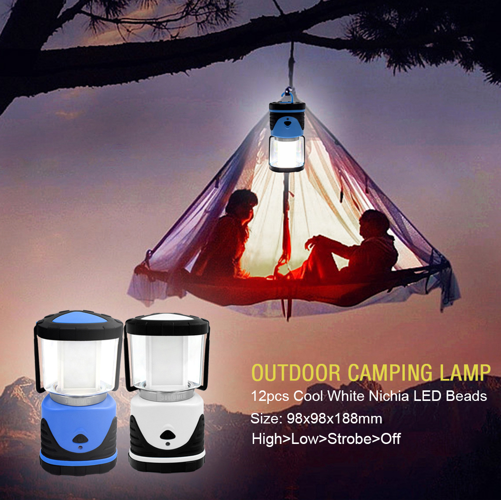 Bright 300lm Led Lantern 3W Cells Portable Camping Lamp Fishing Tent Light SMD2835 IPX3 Waterproof 4.5V Outdoor Fishing Lamp