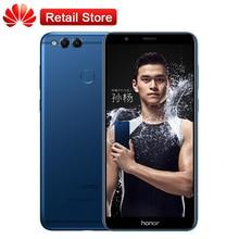 "D'origine Huawei Honor 7X4 GB RAM 64 GB ROM 5.93 ""Octa Core Kirin 659 2160*1080 P 3340 mAh Double Arrière Caméras Téléphone Mobile Empreinte"