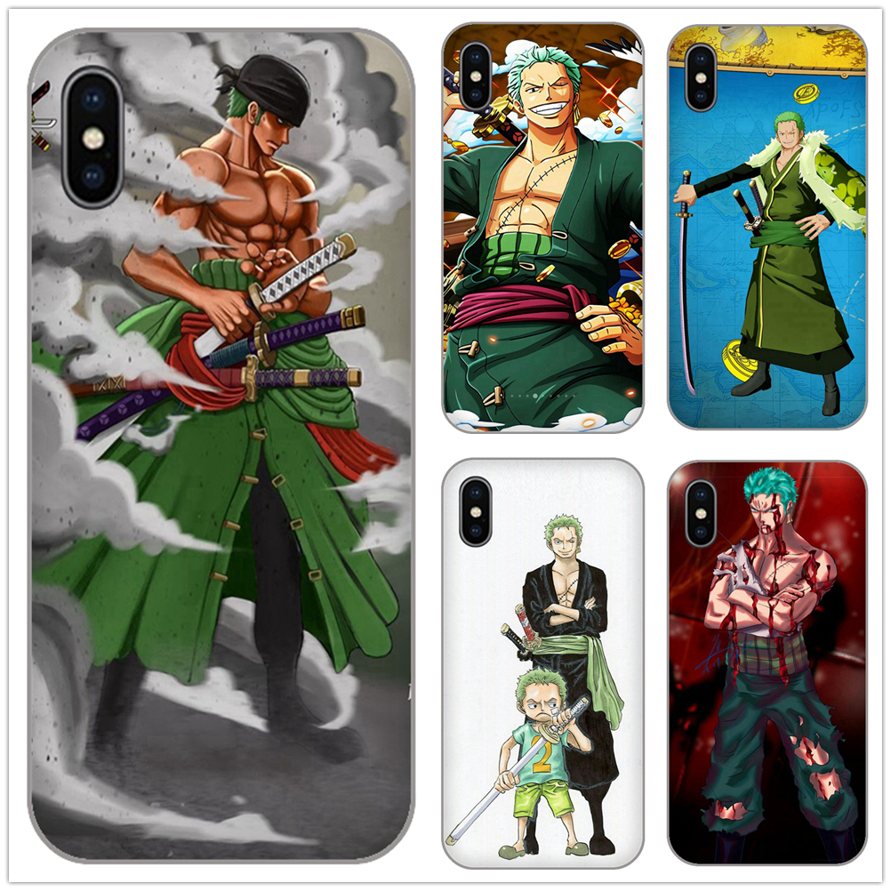 Special Section Japanese Manga One Piece Roronoa Zoro Soft Tpu Cases Cover For Apple Iphone 7 8 6 6s 4 5 5s Se Plus Iphonex Xs Xr Max Plus Shell Aromatic Character And Agreeable Taste Phone Bags & Cases Cellphones & Telecommunications