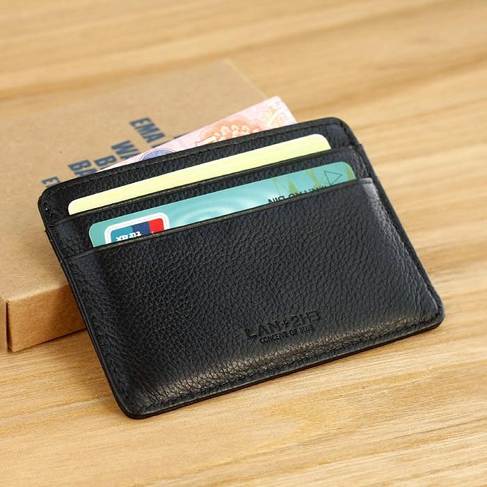 simple men's leather credit card case bank card case