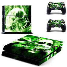 Horrible Skull Skin Vinyl Decal Sticker For PS4 Playstation 4 Console + 2 Controller skins