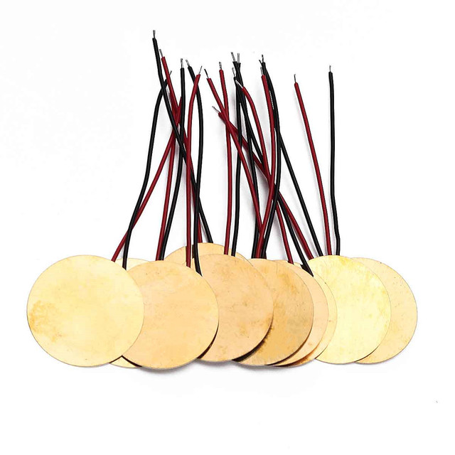 Gold Piezo Electric Brass Transducers 10 pcs/Set