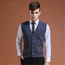 2018 New Autumn Winter Men's Casual Basic Knit Vest Buttons Fashion Men's Wool Sweater Cardigan Sleeveless V Neck Clothes