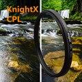 KnightX 49-77 мм cpl поляризационный Фильтр для Canon Nikon Sony DSLR SLR объективы Nikon D7000 D5200 D5100 D5000 D3200 D3100