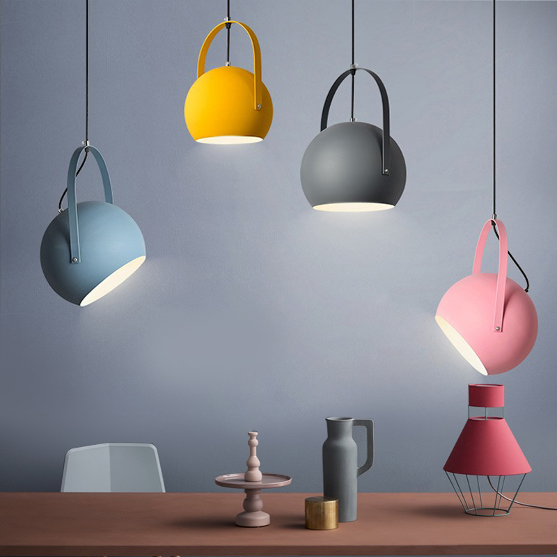 Modern LED Pendant Lights Northern Europe colourful Restaurant Pendant Lamps Home Decration Lighting fixtures E27 northern europe old master cross seven chakra scepter cosmic energy crystal pendant marriage love career fortune official career