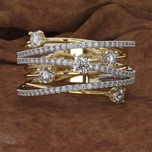 14K 3 colores anillo de diamantes de oro para las mujeres Topacio 1 quilates de piedras preciosas Bizuteria Anillos de joyería de plata de diamante anillo de compromiso, caja