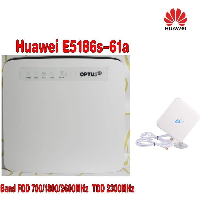 unlocked Huawei E5186 E5186s-61a 700/1800/2600MHz FDD 2300Mhz TDD wireless 4g 300M cpe wifi router PK B593 B890+4G Antenna Price $128.00