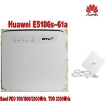 цена на unlocked Huawei E5186 E5186s-61a 700/1800/2600MHz FDD 2300Mhz TDD wireless 4g 300M cpe wifi router PK B593 B890+4G Antenna