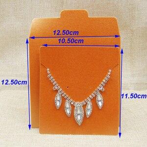 Image 5 - 50 Stuks Per Lot Diverse Kleur Sieraden Ketting Zak Diy Cd Show Case Bruiloft Uitnodiging Kaart Decoratie Verpakking Papieren Zakken