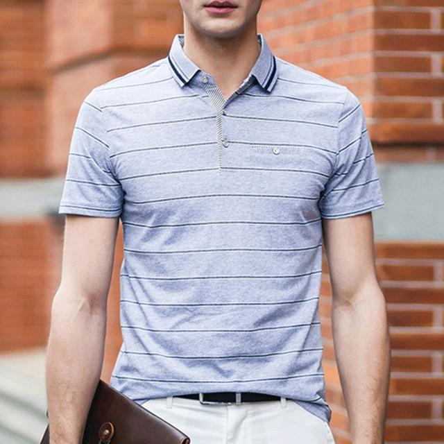 Новый 2016 Мужская Твердые Полосатый Летний Стиль Рубашки Поло Дышащий Удобная Короткими Рукавами Поло Hombre Повседневная Поло Homme