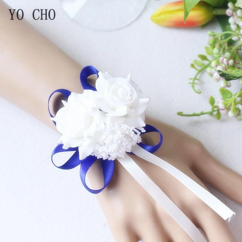 wrist corsage bracelet band bridesmaids flowers (102)