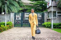 2017 Latest Coat Pant Design Khaki yellow Men Suit Tuxedo Prom Jacket Slim Fit 3 Piece Style Suits Custom Groom Blazer Masculino